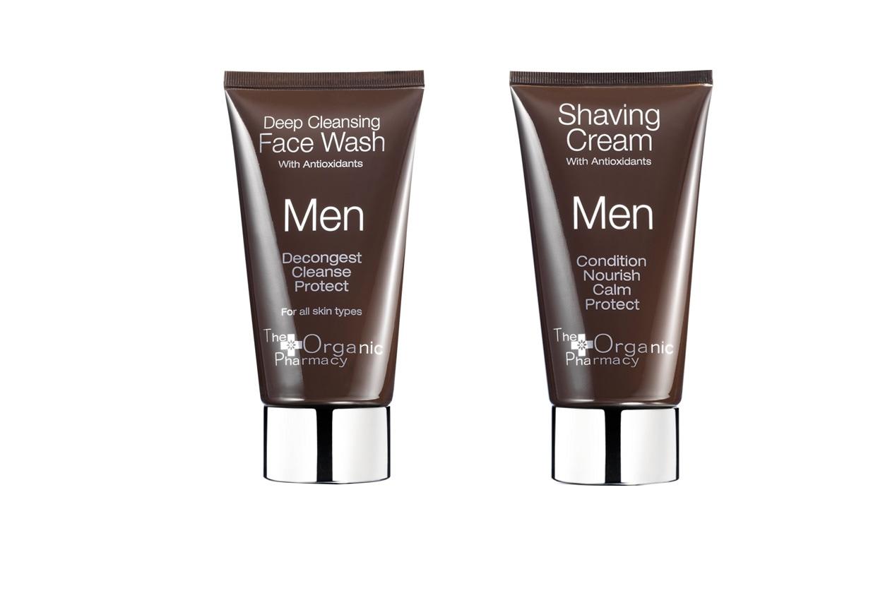 PER UNA BARBA PERFETTA: Da The Organic Pharmacy due prodotti al 100% naturali come l'After Shave e il Deep Cleansing Face Wash