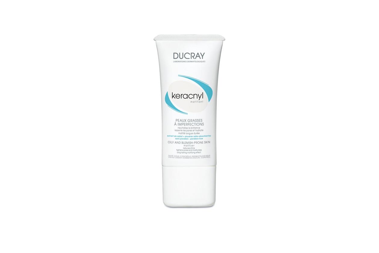 Pensata per pelli miste e grasse la Crema opacizzante Keracnyl di Ducray è a base di acido salicilico e glicolico