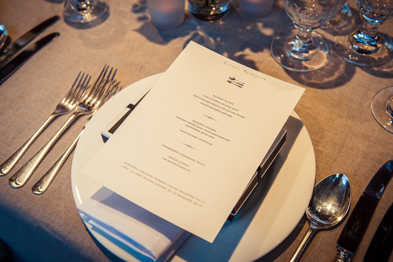 Place setting at myt x AH dinner