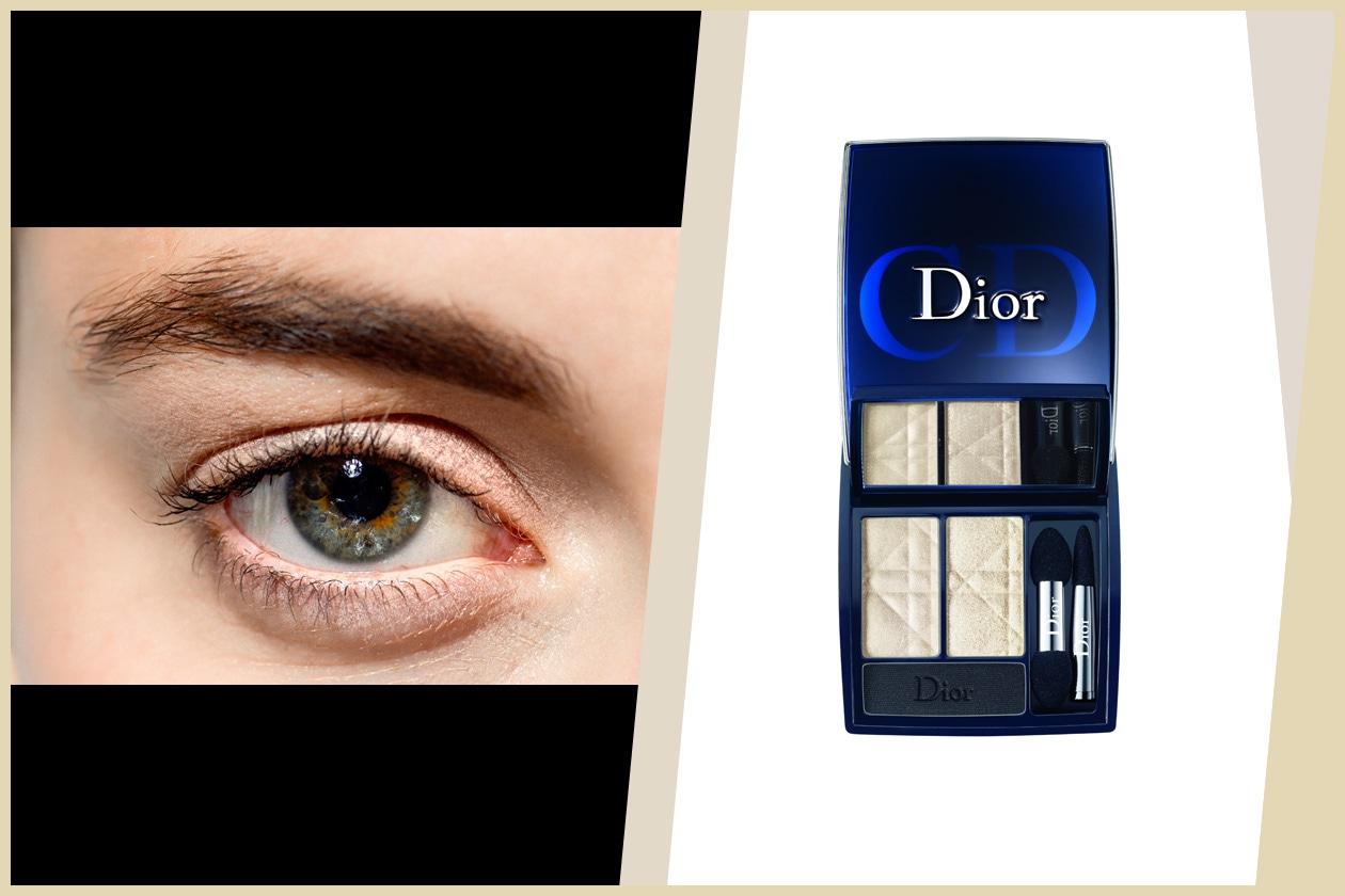 WHITE (&BLACK): full color sui toni del bianco; la polvere scura enfatizza le sopracciglia (Richard Chai – Dior)