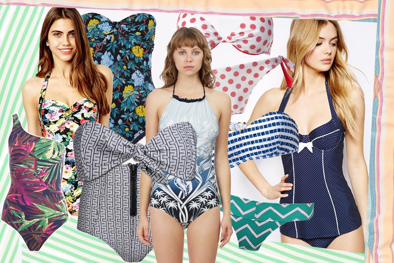 Costumi Da Bagno Bianchi 2014 : Costumi da bagno con stampe per l estate grazia