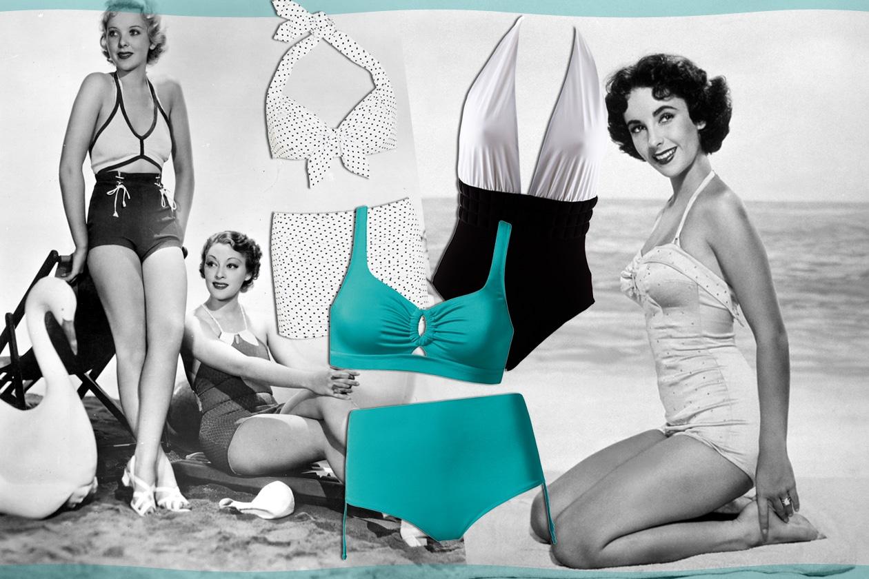 Costume Da Bagno Intero Vintage : Costumi da bagno i modelli ispirati agli anni grazia