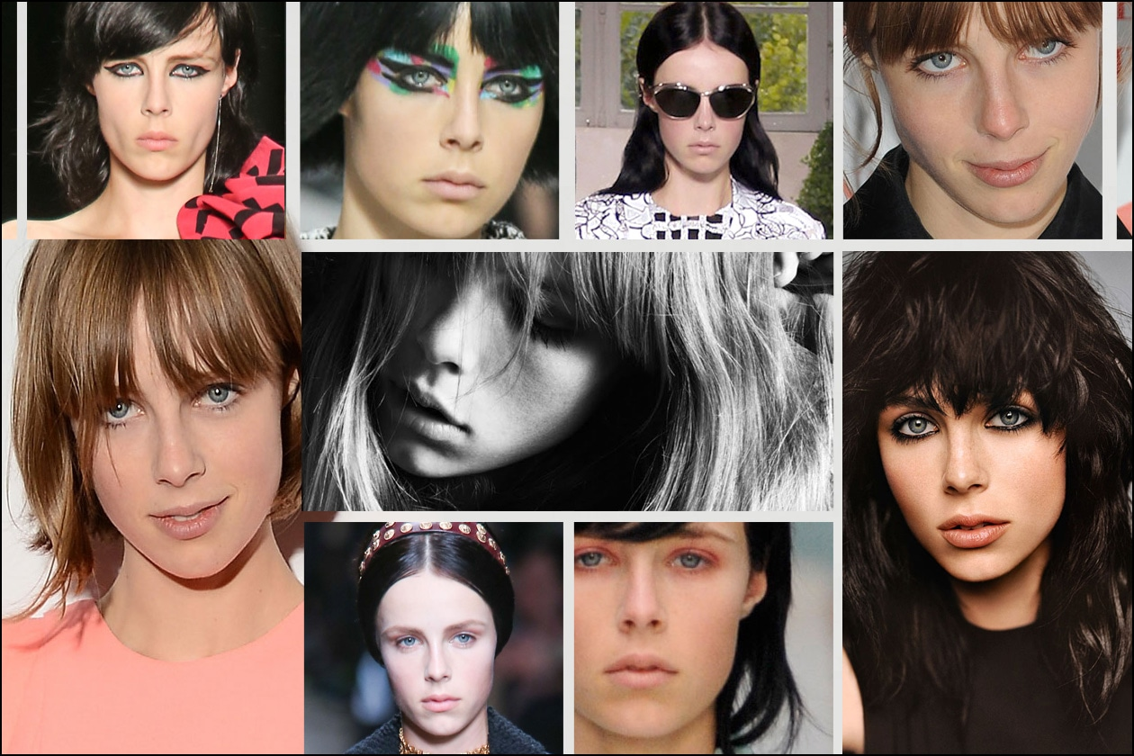 Edie Campbell: tutti gli hair look della nuova testimonial di Opium Noir by YSL