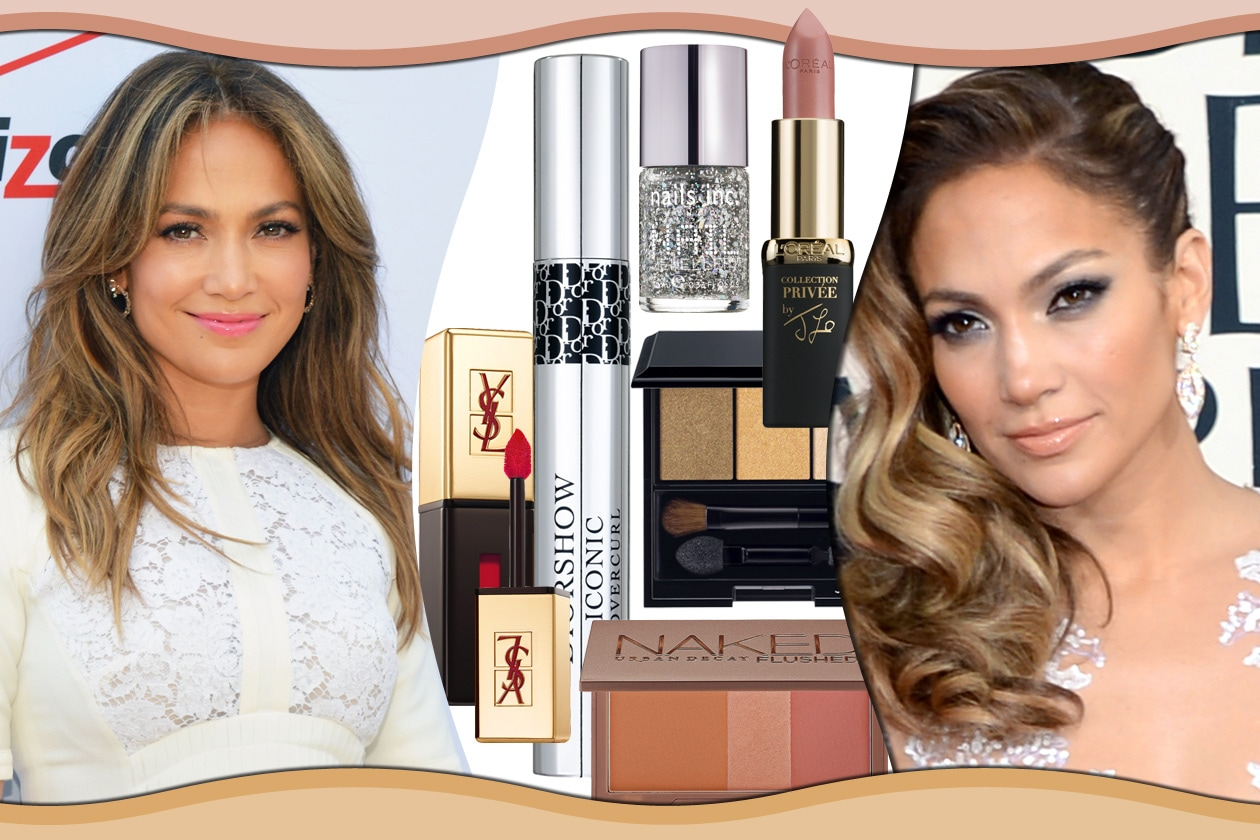 Jennifer Lopez: i beauty look dagli smokey eyes dorati alle labbra nude