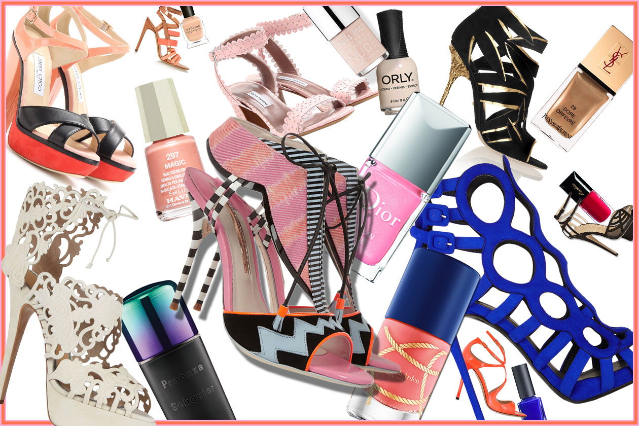 Unghie: gli abbinamenti smalti e sandali per l'Estate 2014