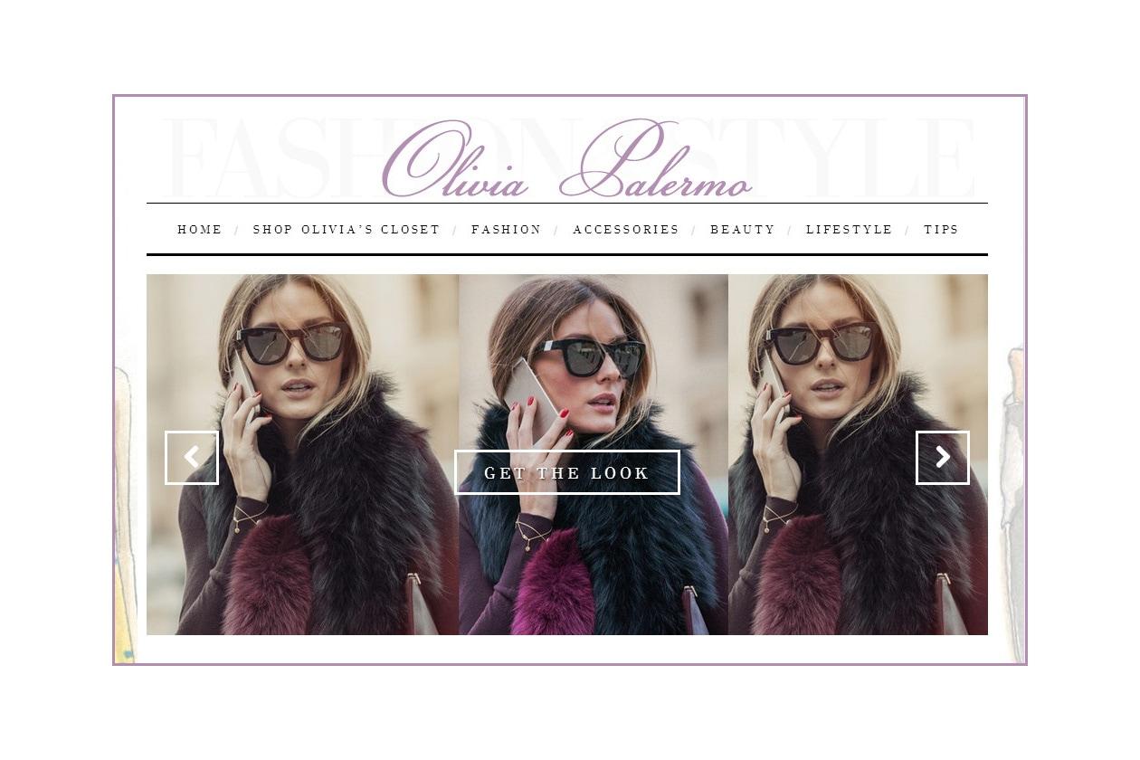 Il sito di Olivia Palermo ha una sezione dedicata al beauty