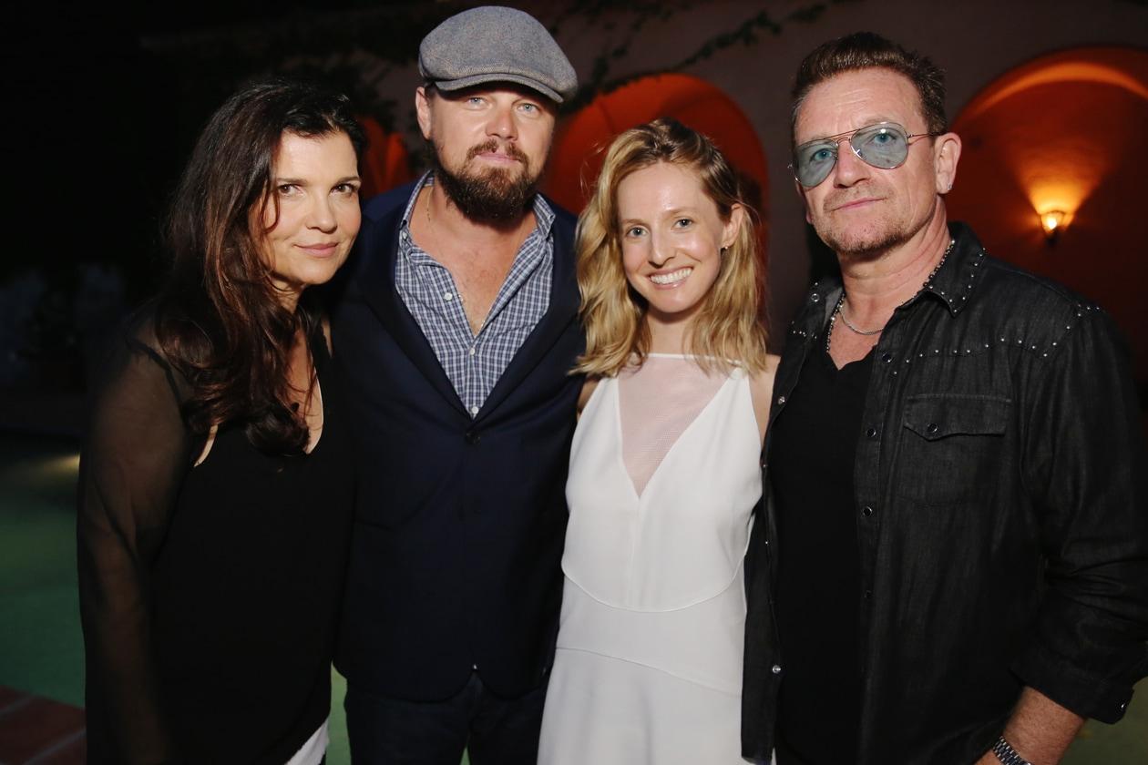 A2 Edun's Ali Hewson & Leonardo DiCaprio & Edun's Danielle Sherman & Bono