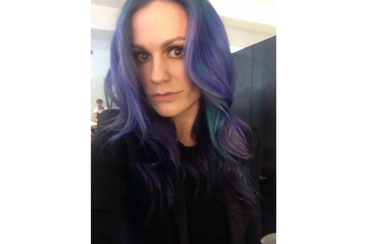 Anna Paquin capelli viola: like a mermaid