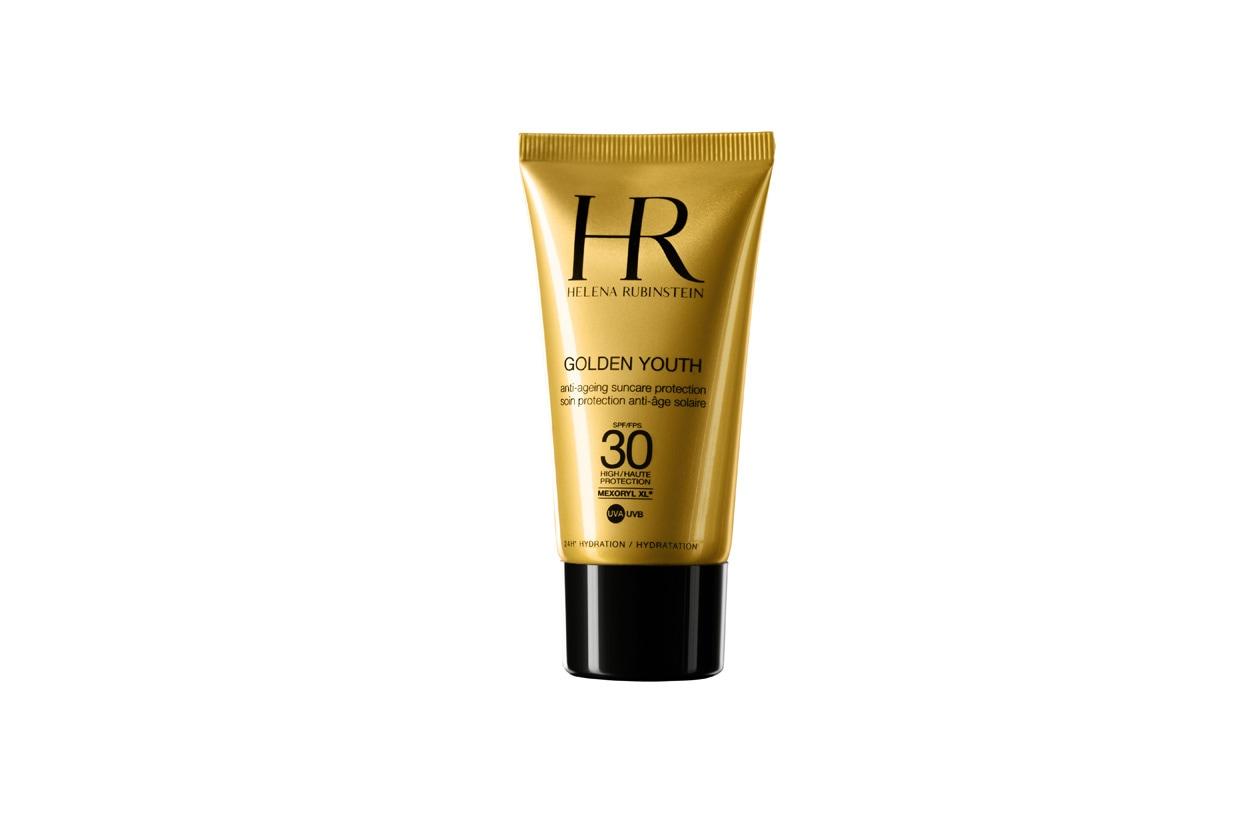 Arricchito con vitamina E e potenti attivi idratanti,GoldenYouth SpF 30 aiuta la pelle a preservare la sua giovinezza