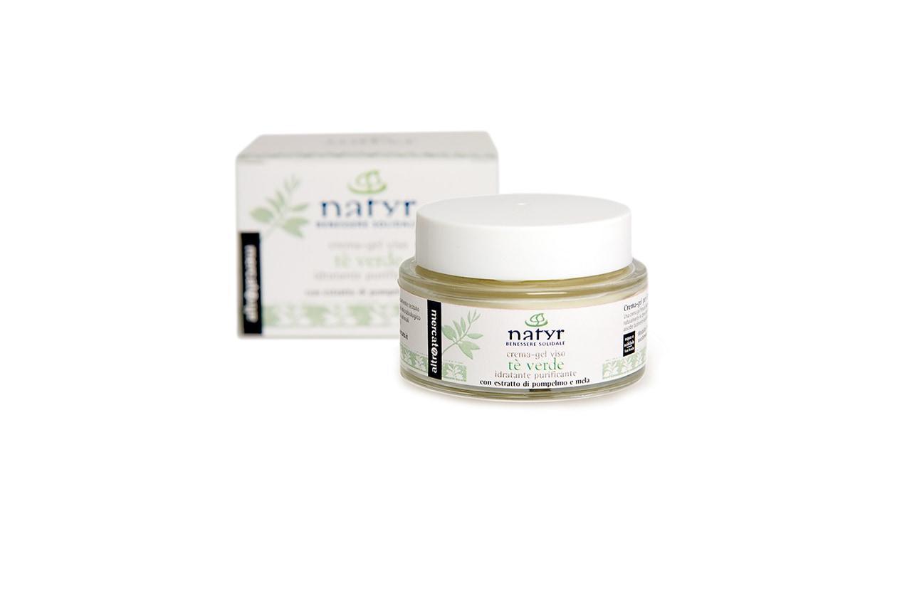 Beauty prodotti corpo con te verde Natyr crema gel viso