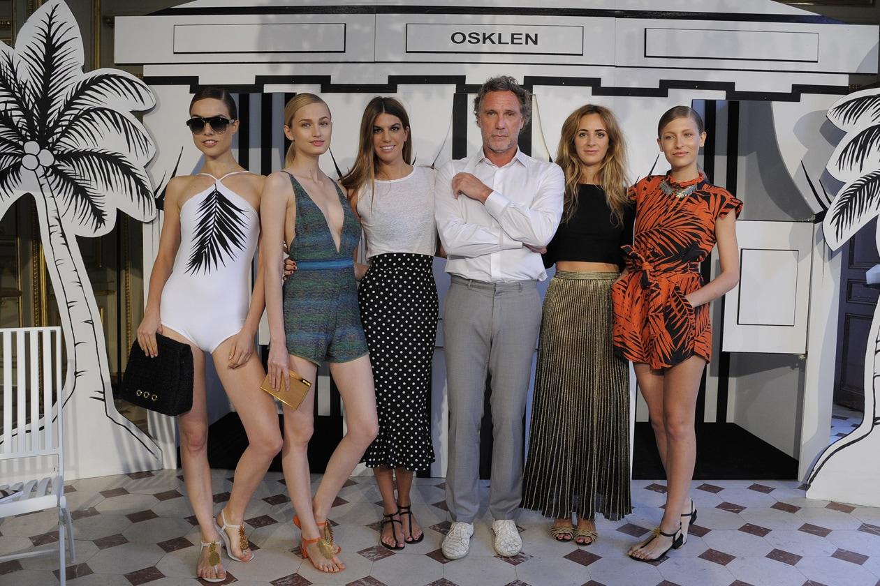 Bianca Brandolini D'Adda & Oskar Metsavaht & Alexia Niedzielski with models