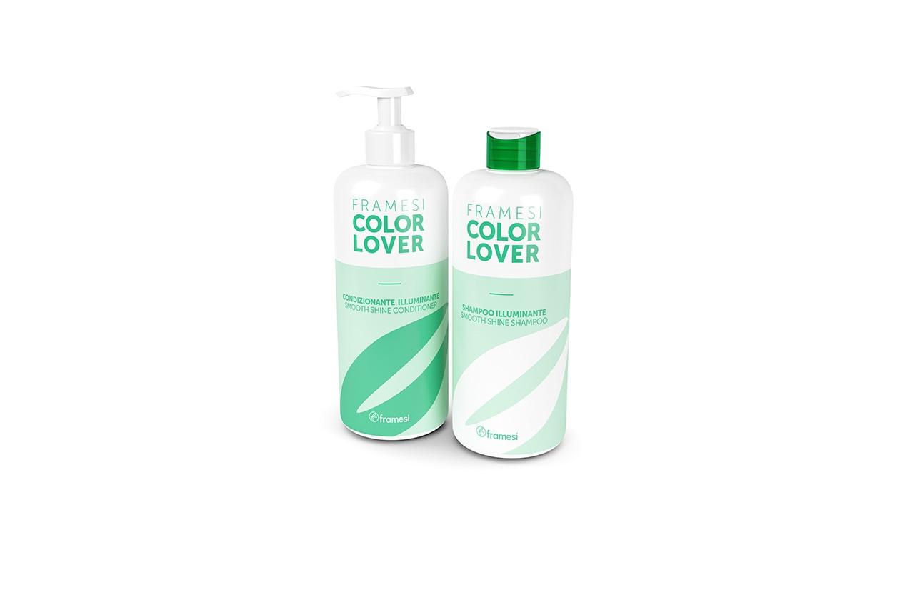 Contrastano lo sbiadimento e allungano la vita del colore lo shampoo e il condizionante Color Lover Illuminante di Framesi