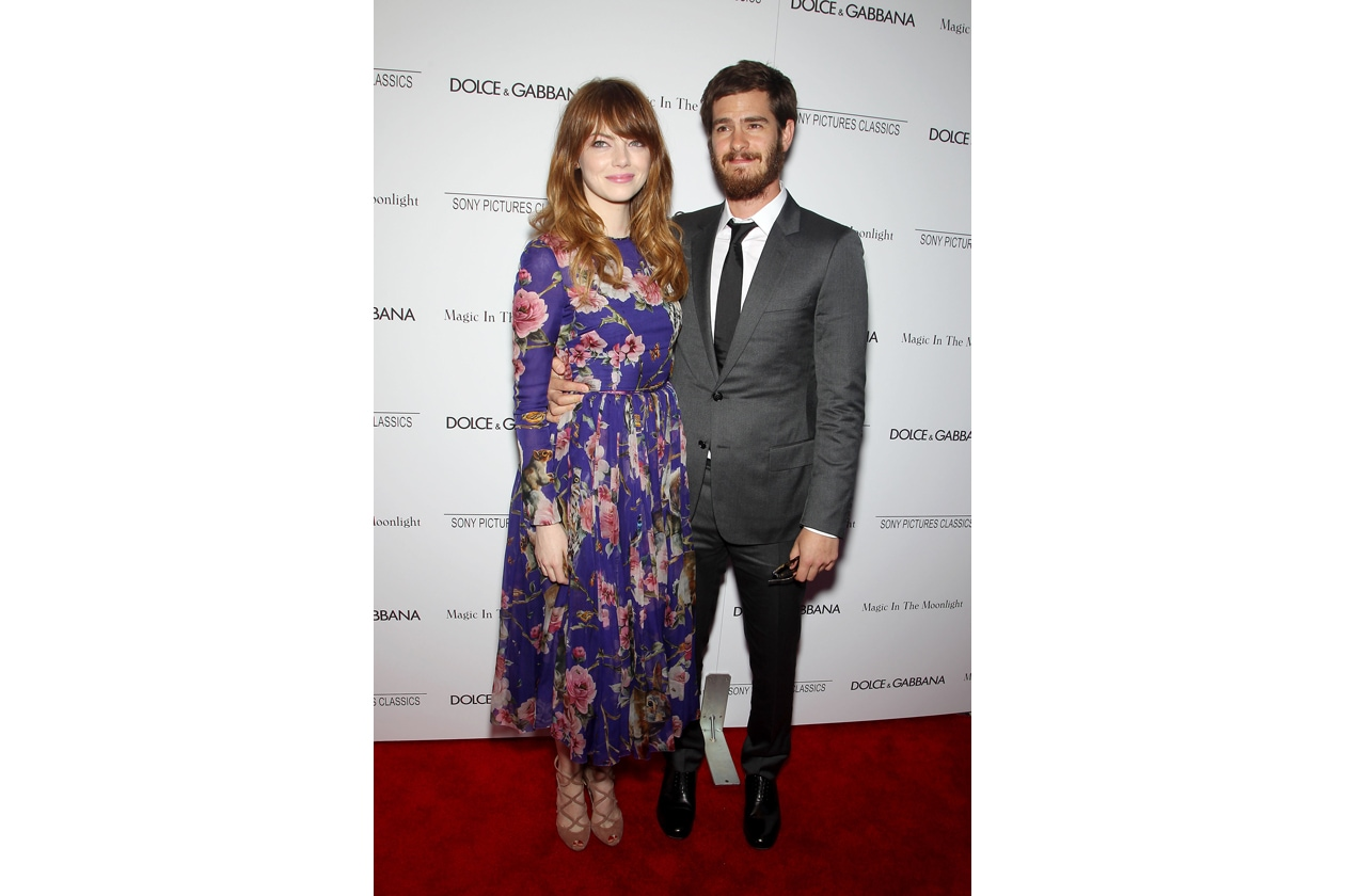 Emma Stone and Andrew Garfield 'Magic in the Moonlight' NY Premiere July..
