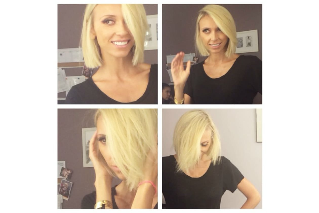Giuliana Rancic capelli: un bob deciso e totally blonde