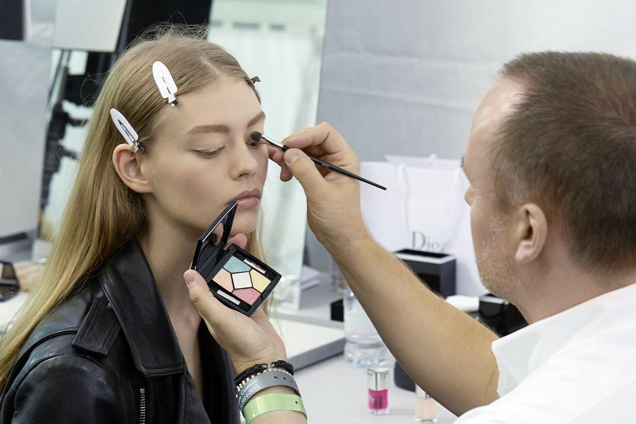 Haute Couture A-H 2015, Dior show Backstage – Make up creato e realizzato da Peter Philips
