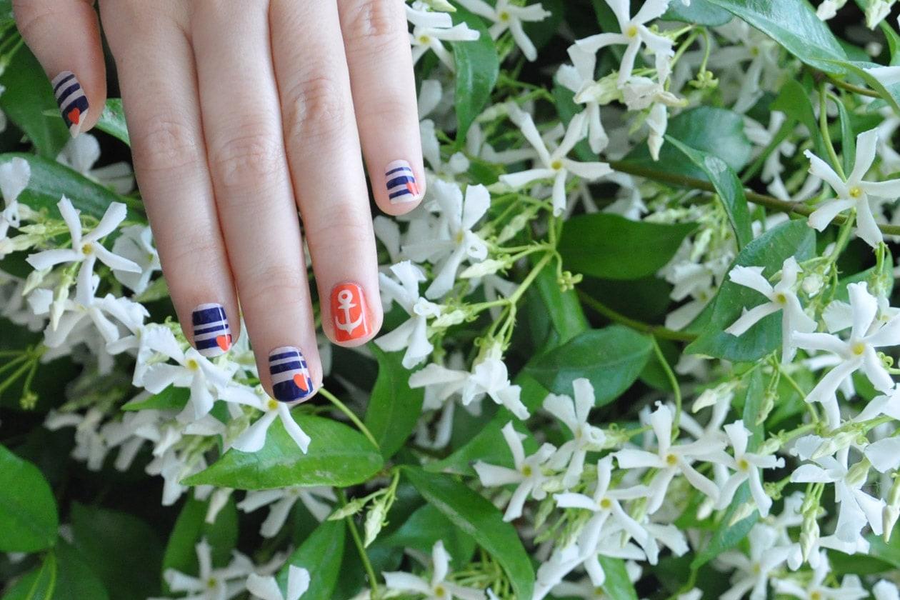 Kawaii Summer Nails – IN THE NAVY nail art