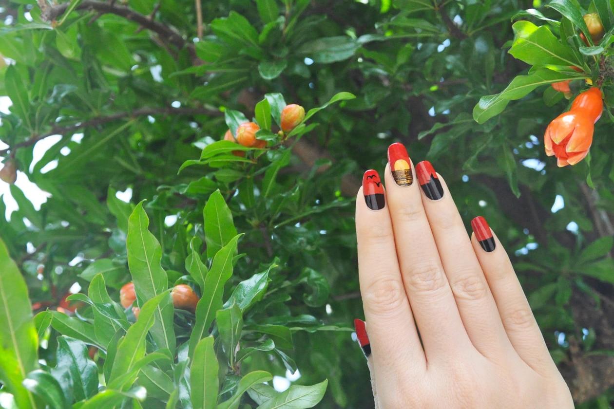 Kawaii Summer Nails – ORANGE SUNSET nail art