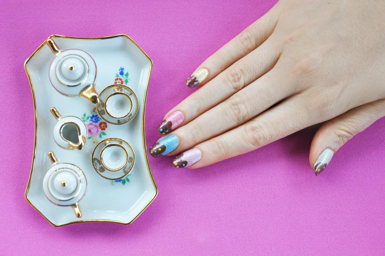 Kawaii Summer Nails – SPARKLING ICE CREAM nail art