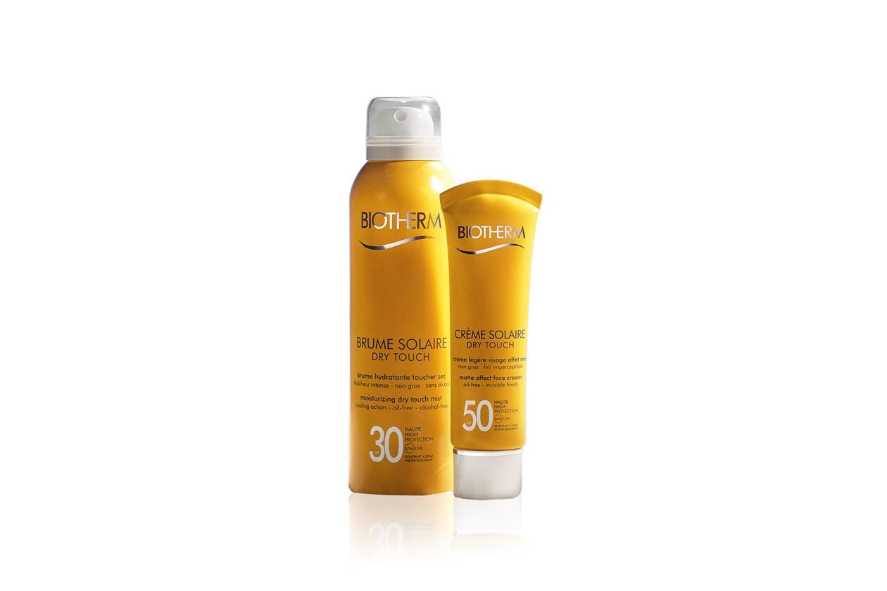 Le due novità Biotherm: la Brume Solaire Dry Touch e la Crème Solaire Dry Touch dalla texture invisibile