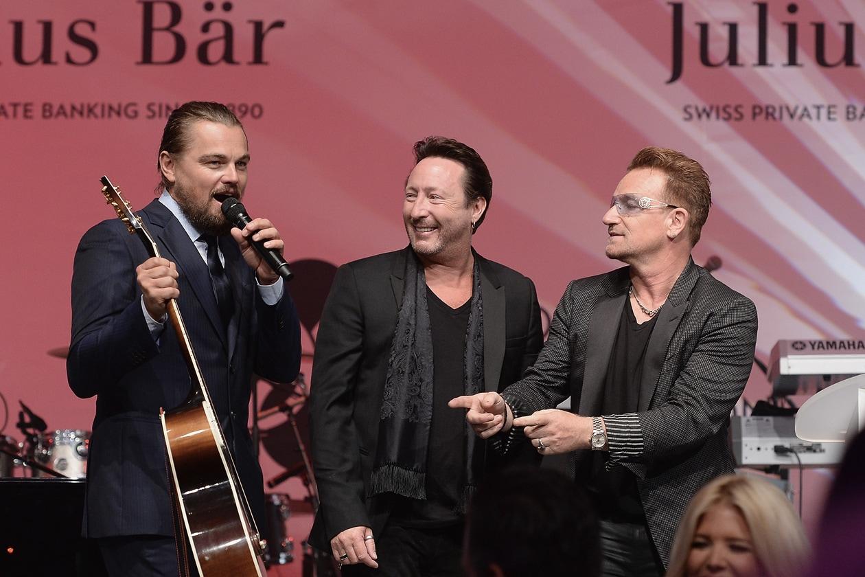 Leonardo DiCaprio Foundation Gala Leonardo DiCaprio Julian Lennon Bono 02