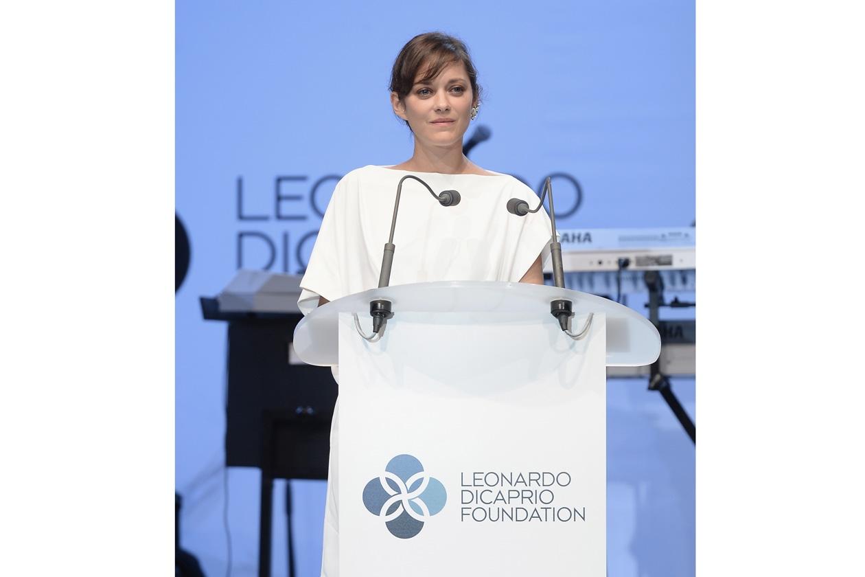 Leonardo DiCaprio Foundation Gala Marion Cotillard on stage