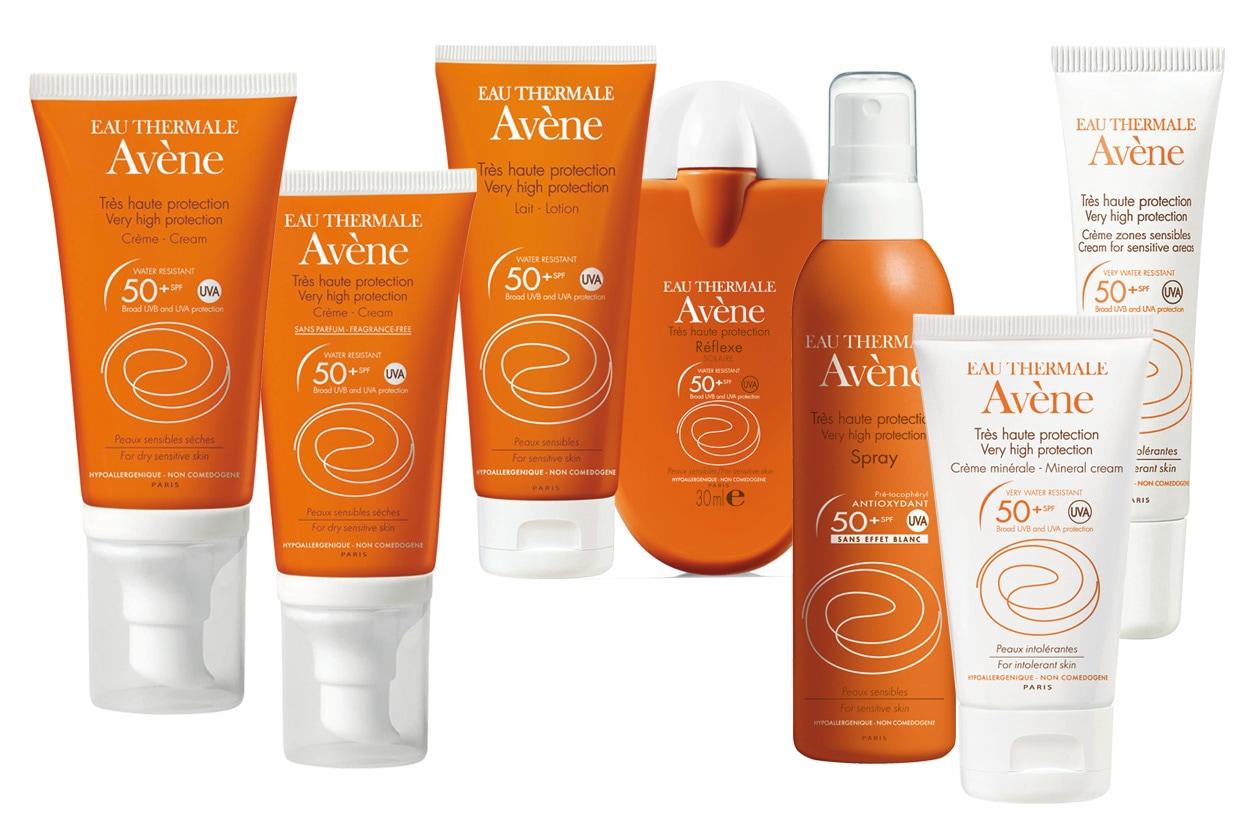 Pensata per le pelli più sensibili la protezione 50+ dei solari Avène. Per quelle intolleranti c'è la linea minerale
