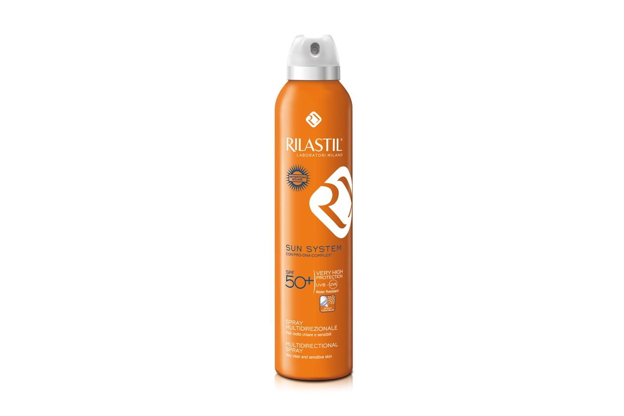 Pensato per chi non ama le soluzioni in crema il Nuovo Spray Multidirezionale 50 di Rilastil