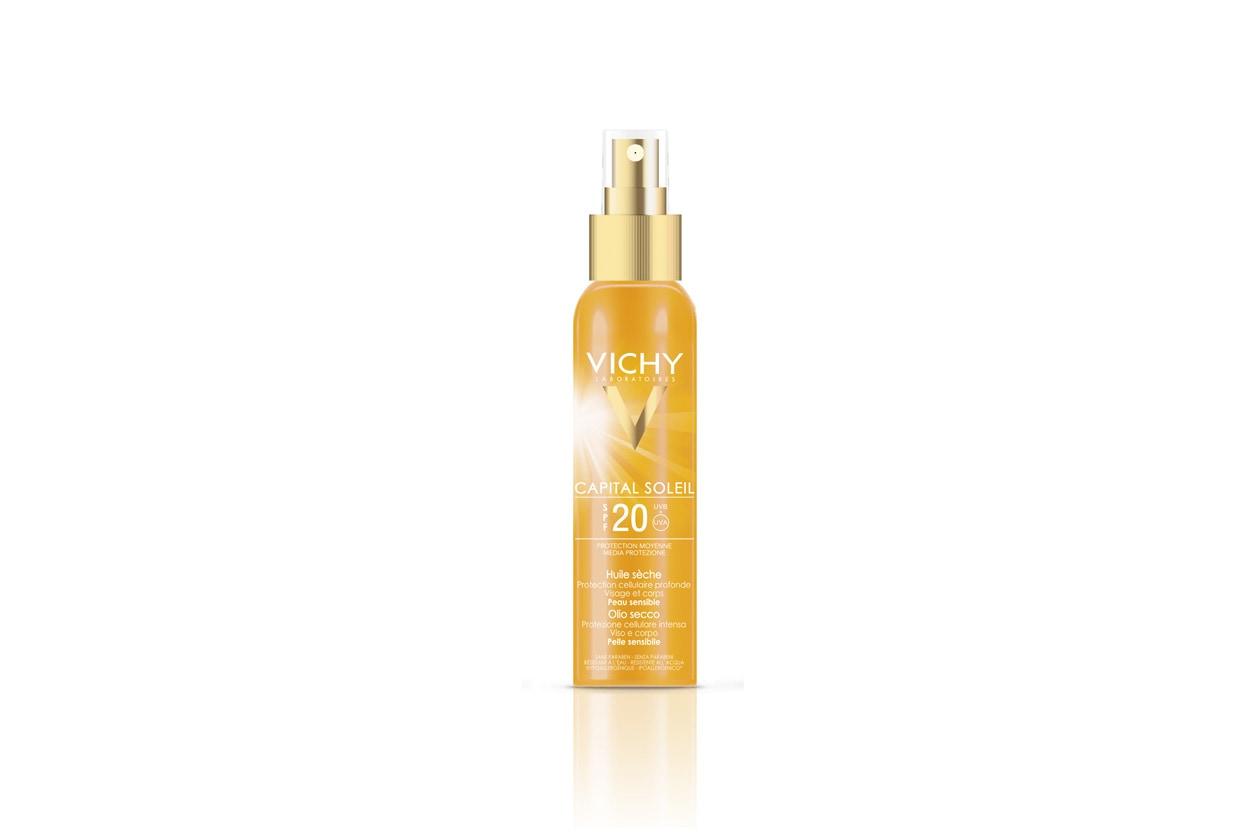 Per una pelle sublimata: l'Olio Solare SPF 20 di Vichy è per viso e corpo