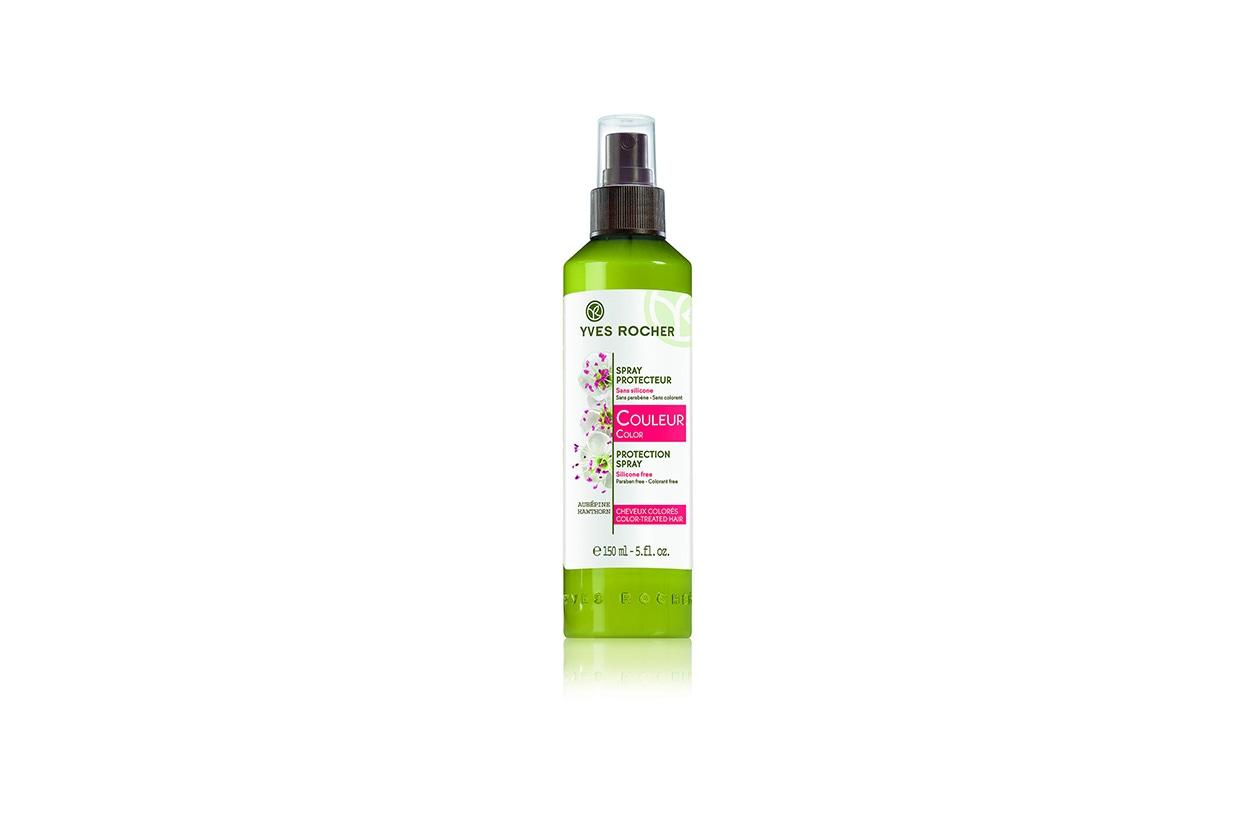 Protegge la chioma contro l'azione dei raggi UV lo Spray Protettivo di Yves Rocher al biancospino