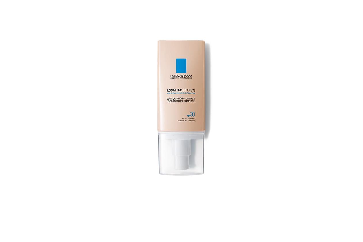 Rosaliac CC Cream di La Roche Posay è un trattamento quotidiano che copre e corregge i rossi proteggendo la pelle