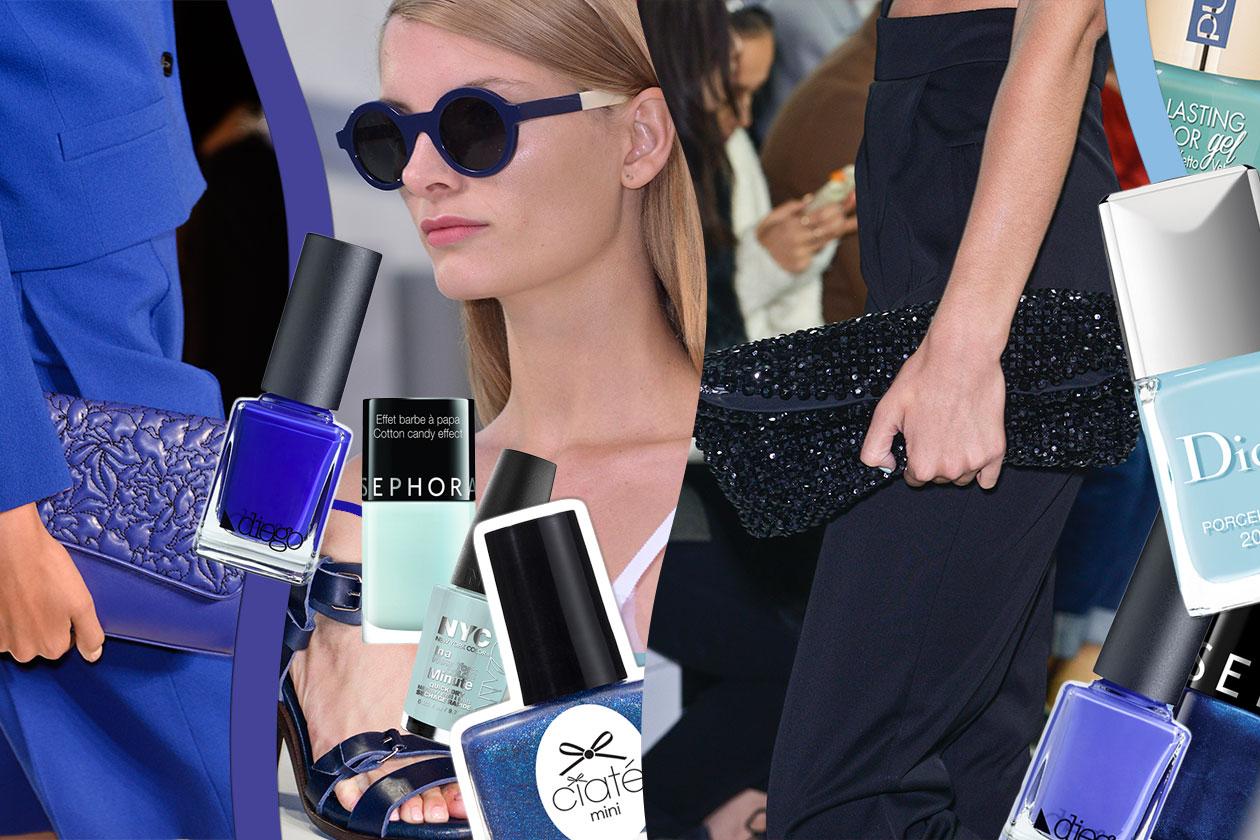 Smalti blu: la nail art nei colori del mare. Scegliete gli abbinamenti beauty&fashion tra le proposte di Grazia.IT