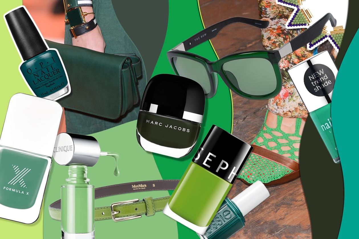 Smalti verdi e accessori: scegliete la vostra nuance e il vostro look tra gli abbinamenti beauty&fashion di Grazia.IT!