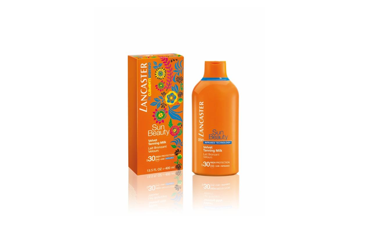 Sun Beauty Velvet Tanning Milk SPF 30 by Lancaster: formato jumbo per una protezione solare per il corpo dalla sensazione vellutata
