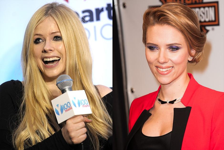 Avril Lavigne e Scarlett Johansson: 1984