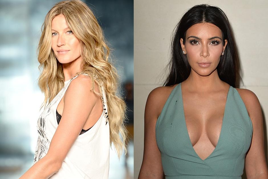 Gisele Bündchen e Kim Kardashian: 1980