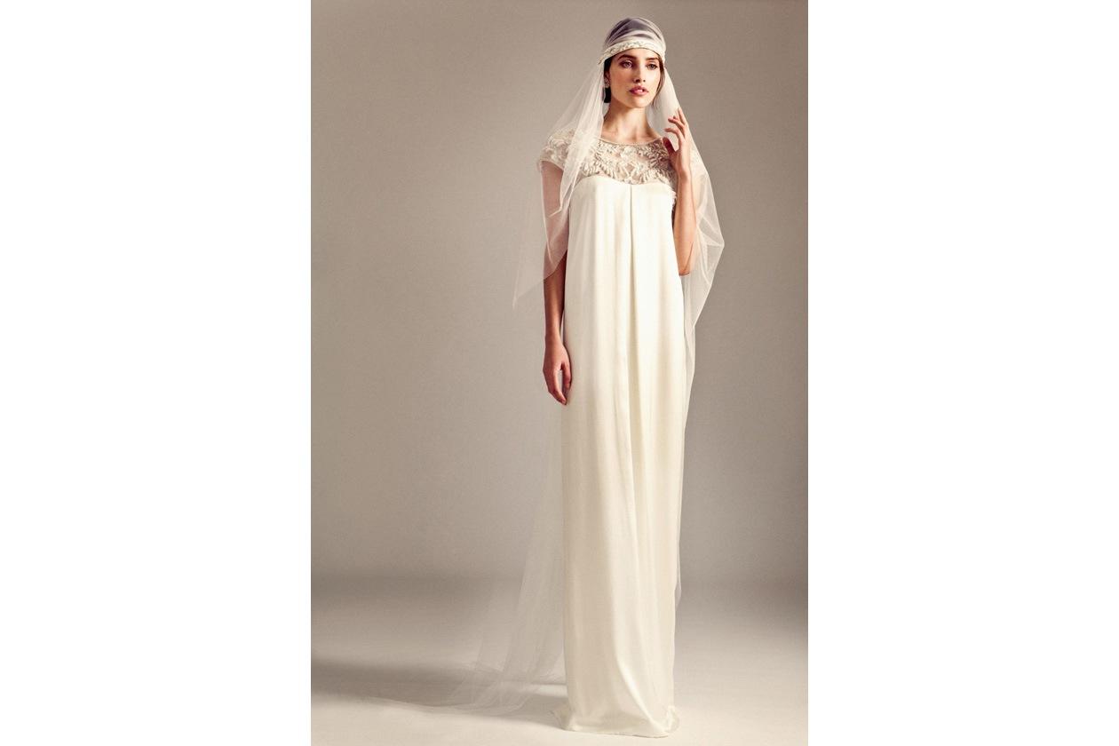 005 JEMIMA DRESS GATSBY CRYSTAL VEIL