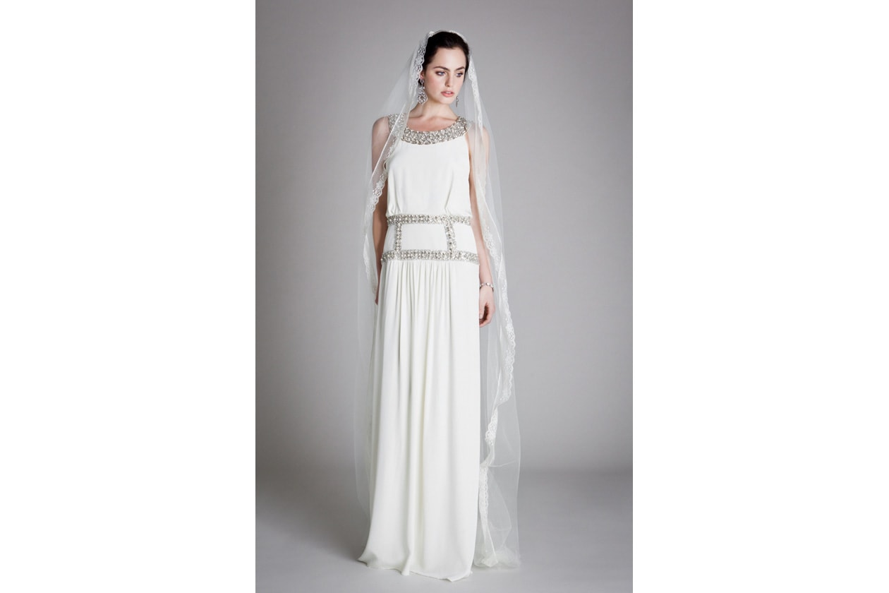 023 EMMELINE DRESS LONG LACE VEIL 0