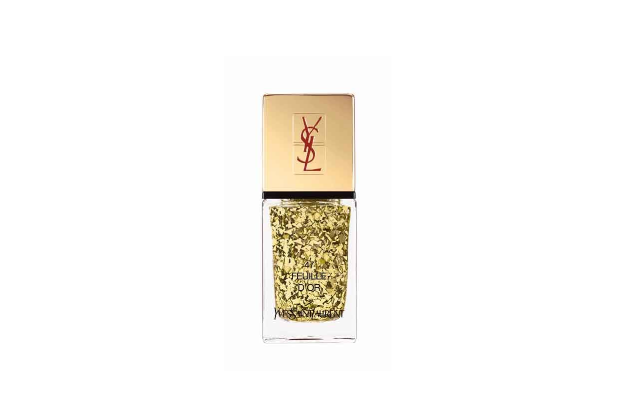 26 YSL LA LAQUE COUTURE N°47 FEUILLE D'OR