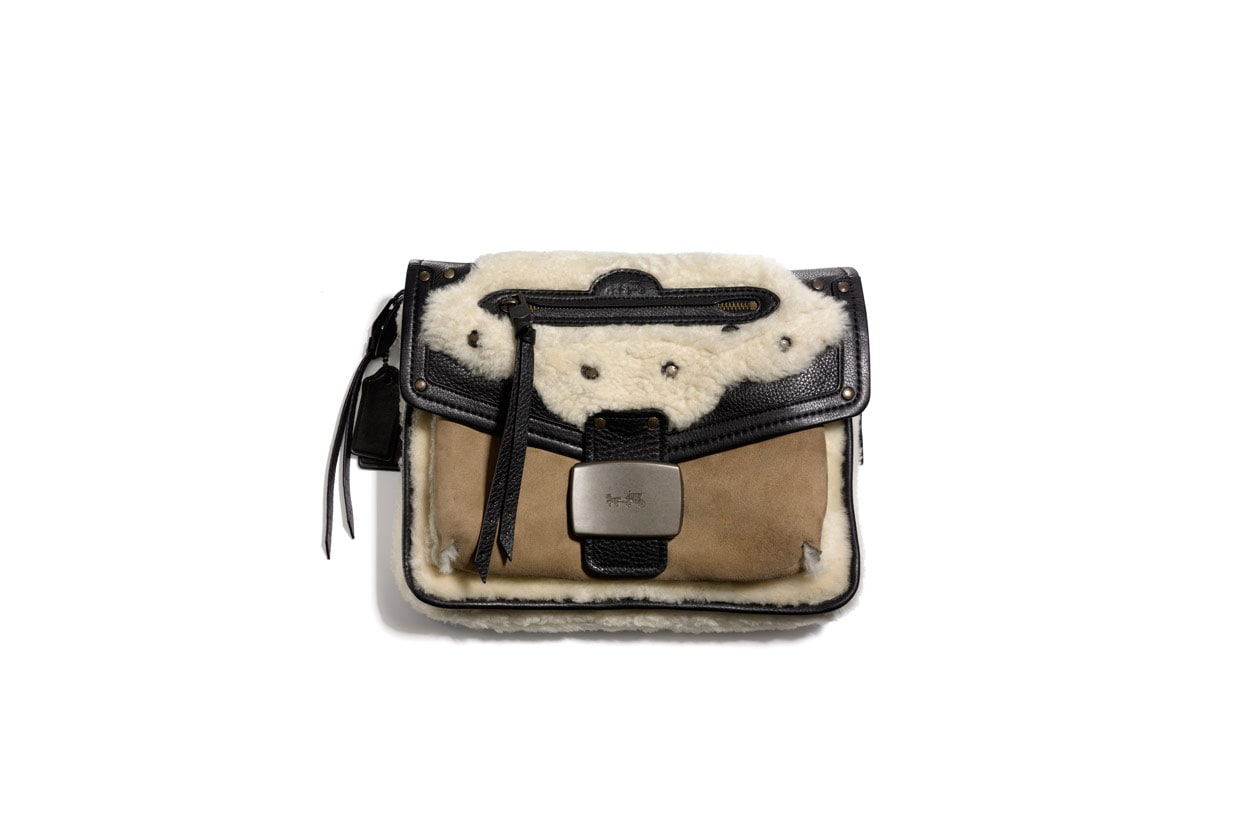 33945 Shearling Rhyder Flap Clutch EXCLUISVE TO NETAPORTER