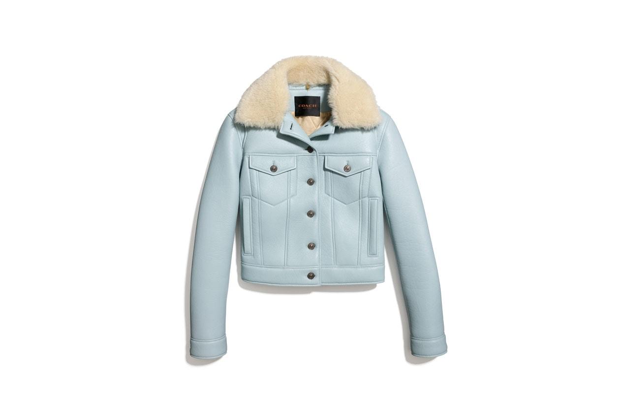 85543 Leather Jean Jacket