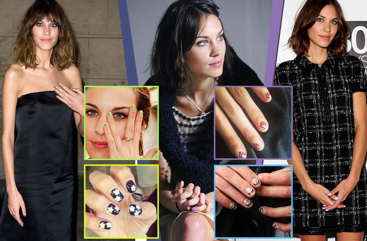 Alexa Chung e la nail art: la socialite è una vera fan della manicure. Ecco le migliori selezionate da Grazia.IT
