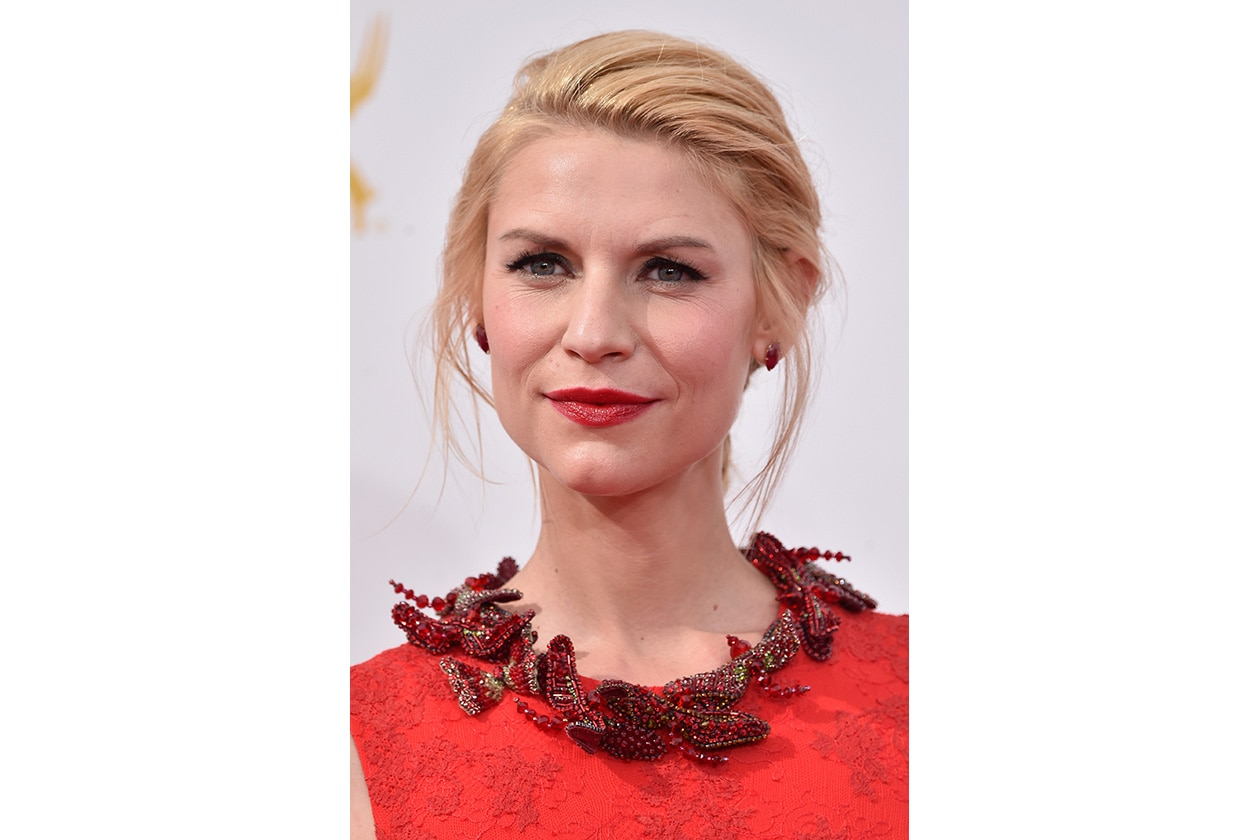 Claire Danes: rossetto ciliegia ed eyeliner