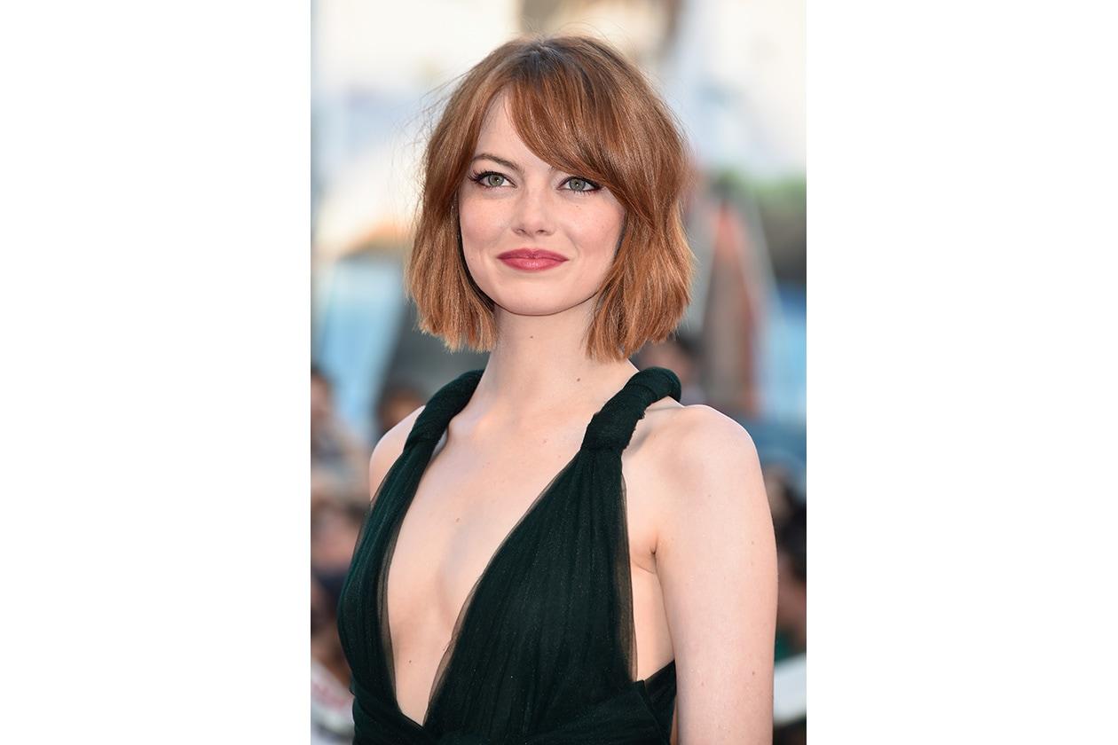 Emma Stone: il bob mosso
