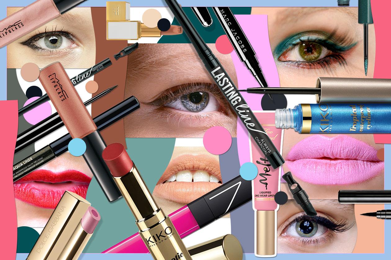 Eyeliner abbinato al rossetto per un beauty look all'insegna del colore. Scegliete tra le proposte di Grazia.IT