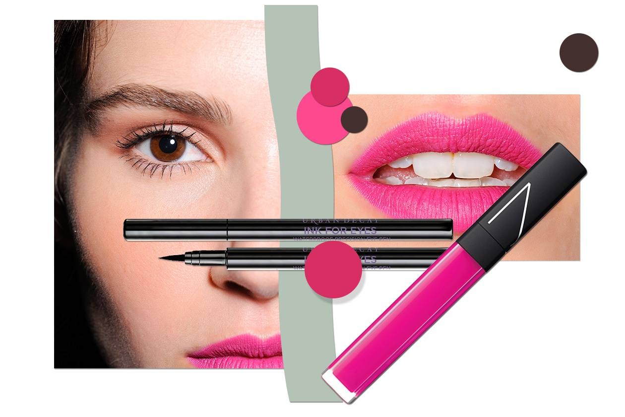 FUCSIA&BLACK: per un make up dal mood anni Ottanta (Nars – Make Up Forever – : Maria Grachvogel )
