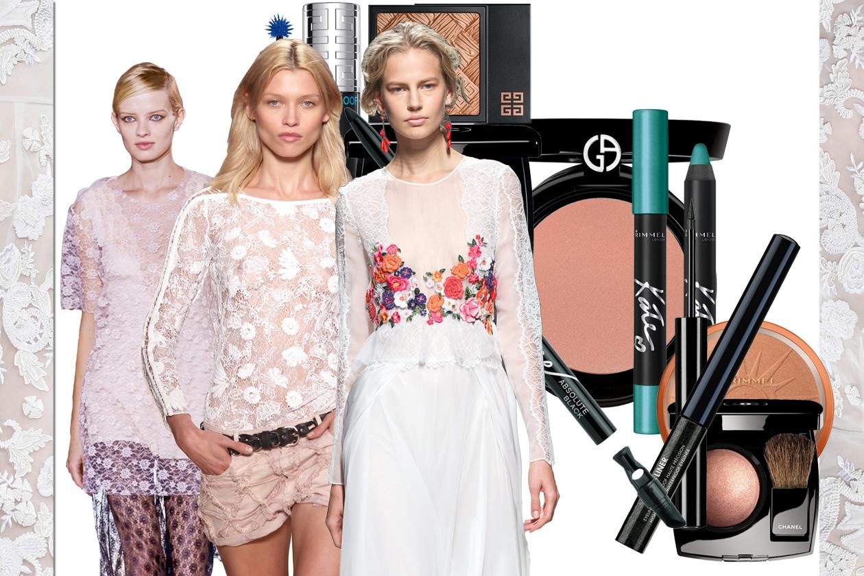 Il make up abbinato al pizzo bianco: scegliete tra le accostamenti beauty&fashion proposti da Grazia.IT