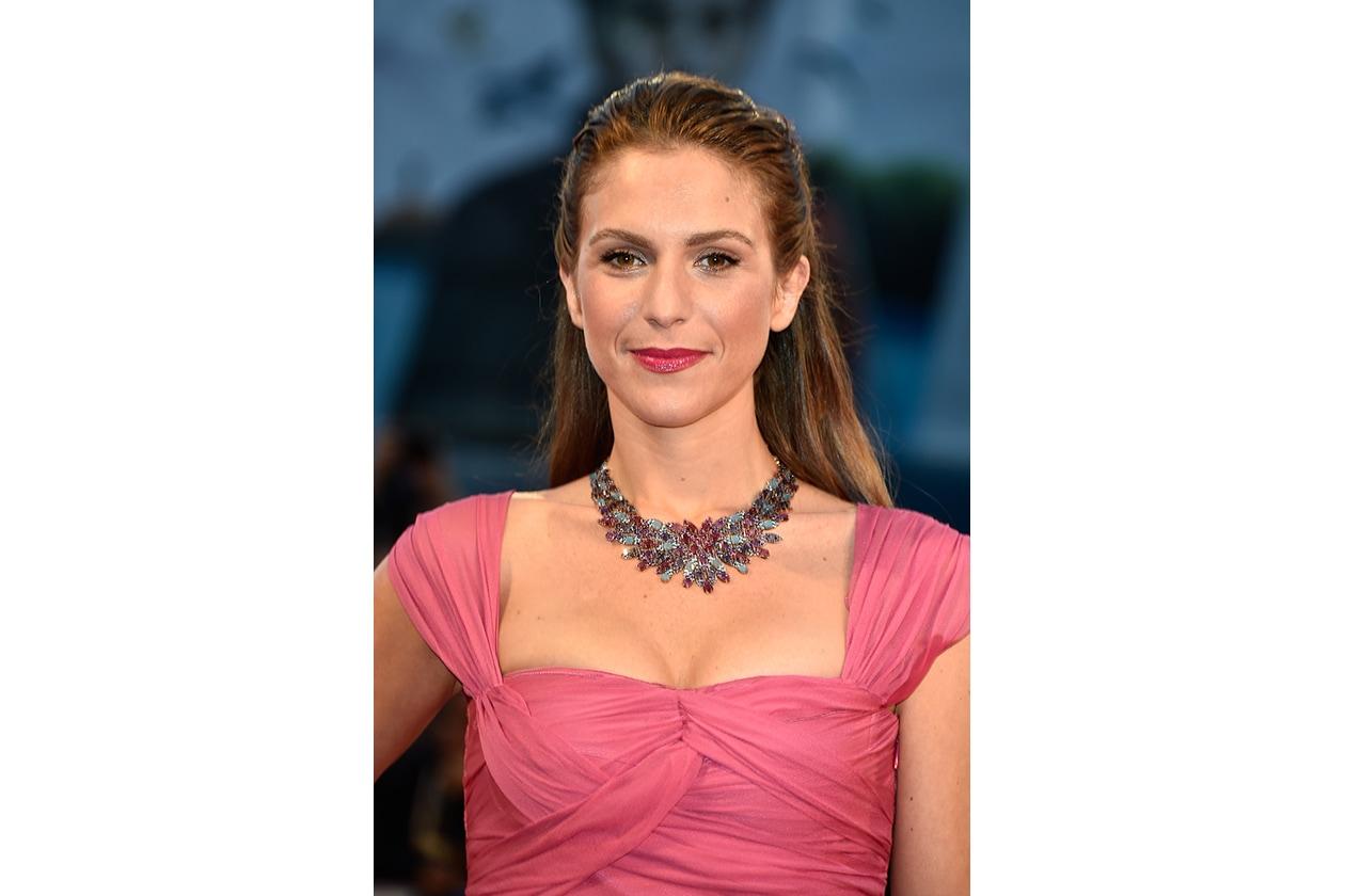 Isabella Ragonese: il rossetto magenta
