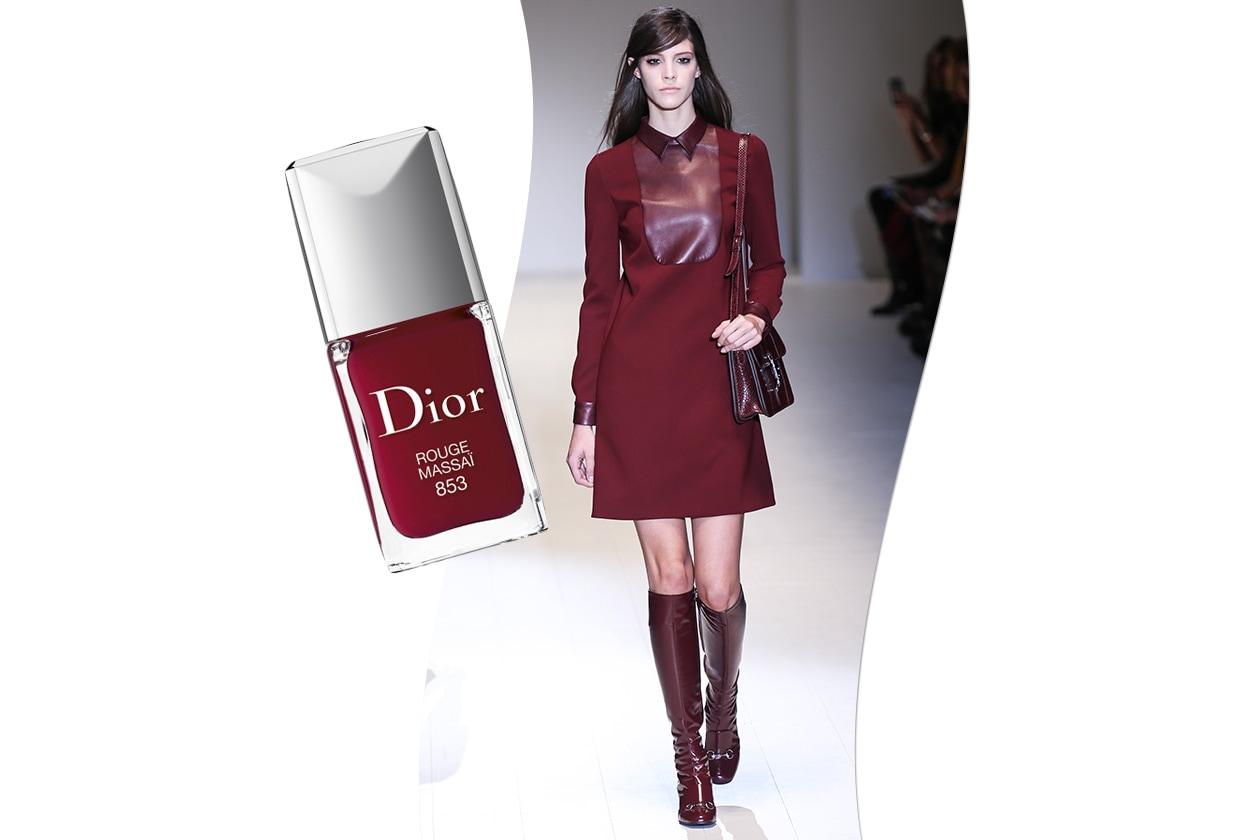 Sangria fashion & make up: Gucci e Dior Rouge Massaï 853