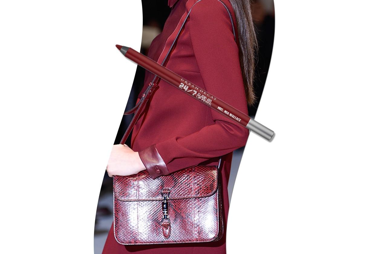 Sangria fashion & make up: Gucci e Urban Decay Pulp Fiction Glide-On Lip Pencil Mrs Mia Wallace