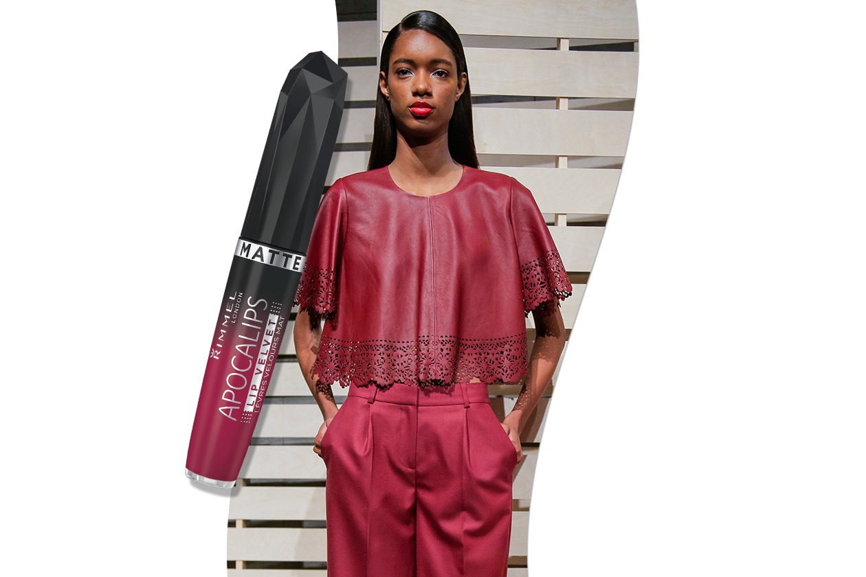 Sangria fashion & make up: J.Crew e Rimmel Apocalips Matte Meteoric Matte 307